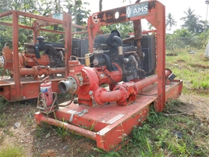 Skid Mounted Godwin Diesel Powered Water
