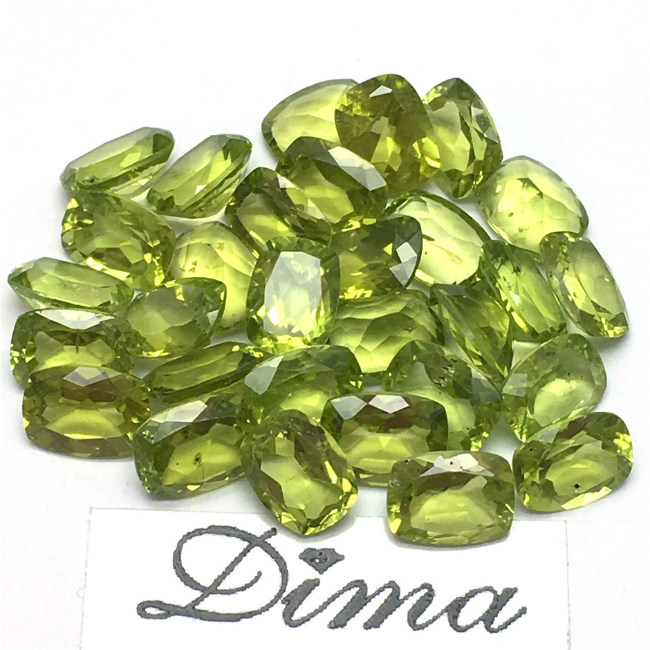 Thirty Stones Peridot Cushion 43ct in Total