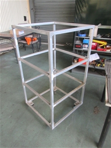 Steel Frame on Caster Wheels