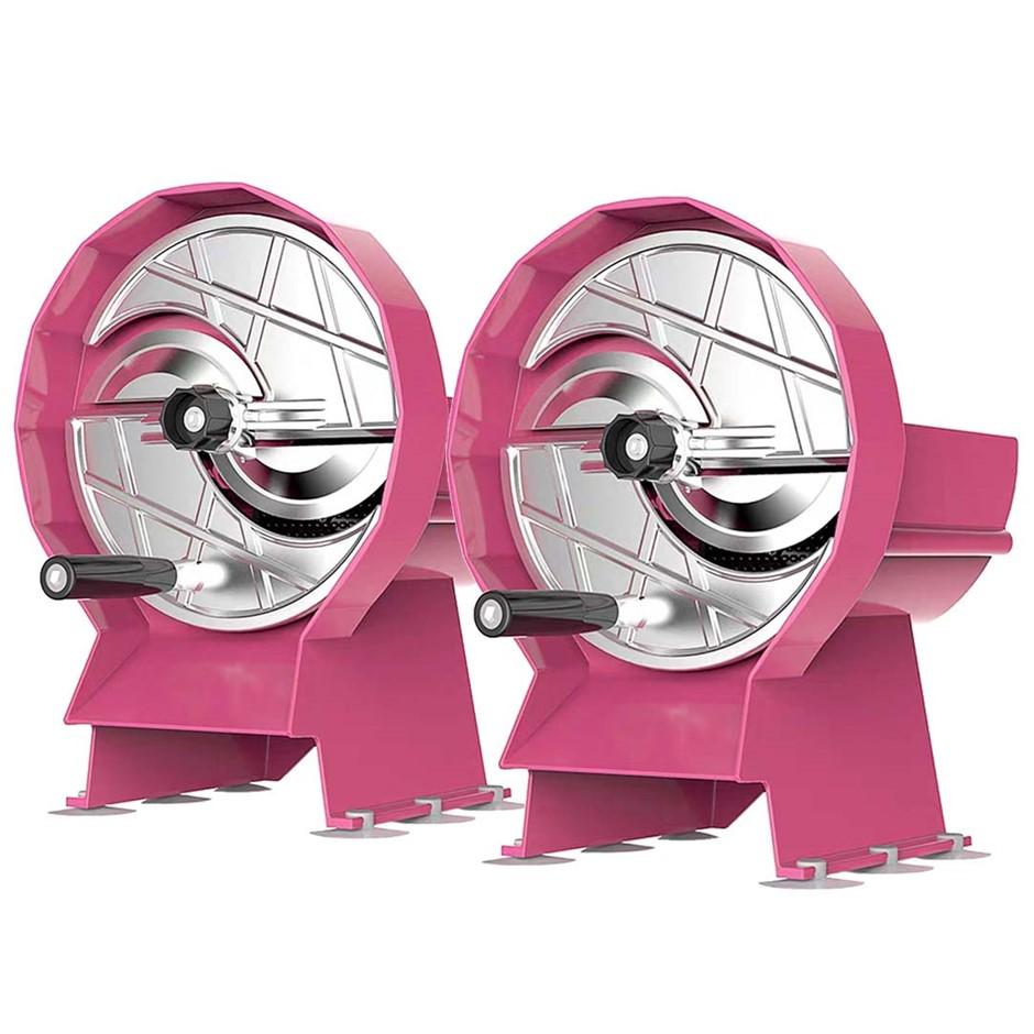 SOGA 2X Commercial Manual Vegetable Fruit Slicer Cutter Machine Pink