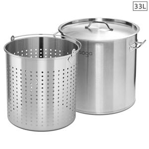 SOGA 33L 18/10 Stainless Steel Stockpot