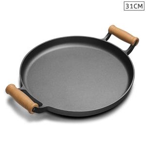 SOGA 31cm Cast Iron Pan Skillet Sizzle F