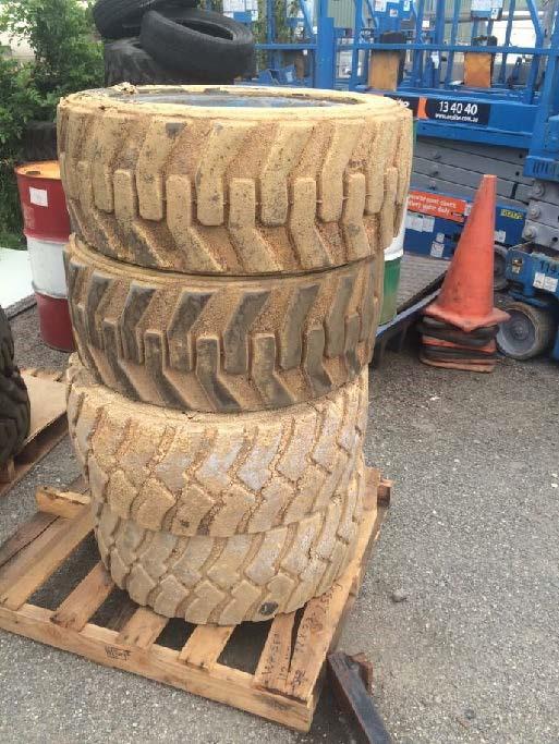 4x Tyres & Rims to suit Genie GS5390RT Scissor Lift (Location: Kwinana)