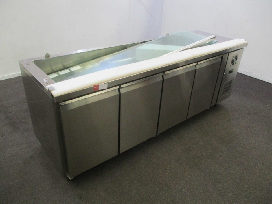 FED THP4100SALAC Stainless Steel 4 Door Prep Bench