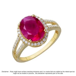 9ct Yellow Gold, 3.69ct Diamond Ring