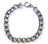 Men's stainless steel curb bracelet