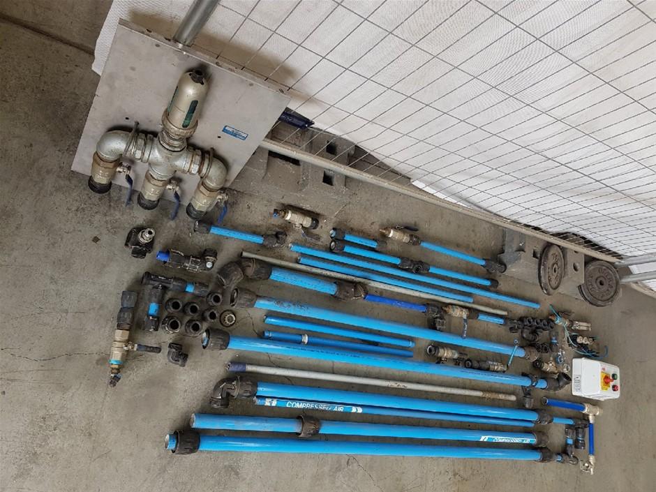TRANSAIR 40mm + 25mm ALUMINIUM COMPRESSED AIR PIPE & FITTINGS