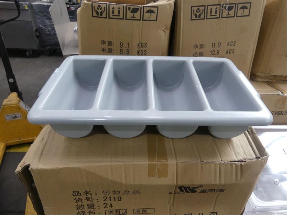 Qty Approx 6 x Welshine 0072 Plastic Cutlery Trays