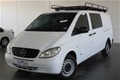 2010 Mercedes Benz Vito 111CDI EXTRA LONG CREW CAB T/D M Van