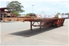 1984 Freighter 41' Triaxle Flat Top Trailer