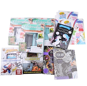 12 x Assorted Colouring & Painting Activ