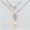Sterling Silver Pearl pendant on chain