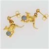 """Yellow Gold Plated Sterling Silver Opal """"Kangaroo""""earrings"""