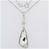 Sterling Silver Zirconia pendant on chain