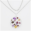 Sterling Silver and multi-Gemstone pendant on chain