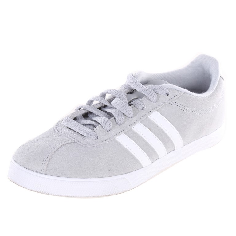 ADIDAS Women`s Courtset Shoes, UK Size 6, Grey/White. Buyers Note - Discoun