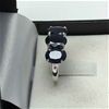18ct White Gold, 4.80ct Blue Sapphire Ring