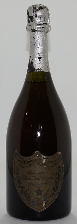 Moet & Chandon Cuvee Dom Perignon Vintage Champagne 1990 (1x 750mL), Fr.