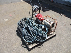 Pallet of Pressure Wash and Hoses