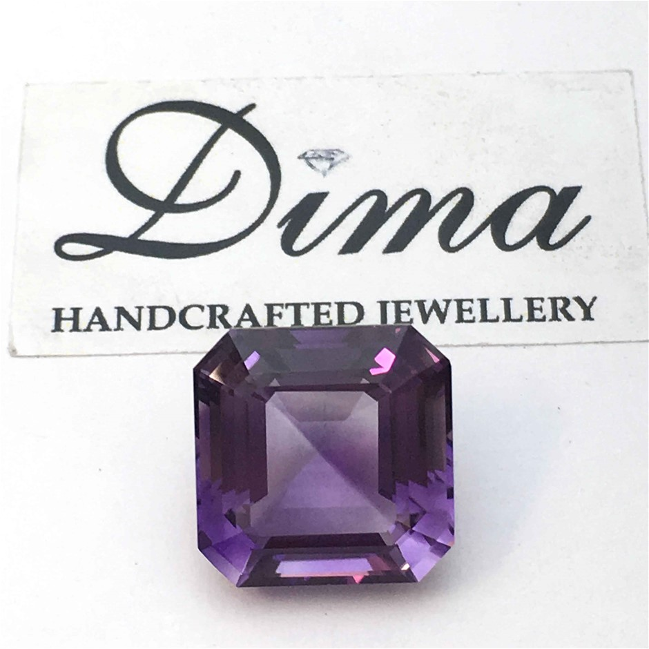 One Stone Amethyst Emerald, 3.07ct in Total