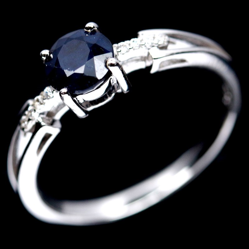 Beautiful Genuine Sapphire Solitaire Ring.