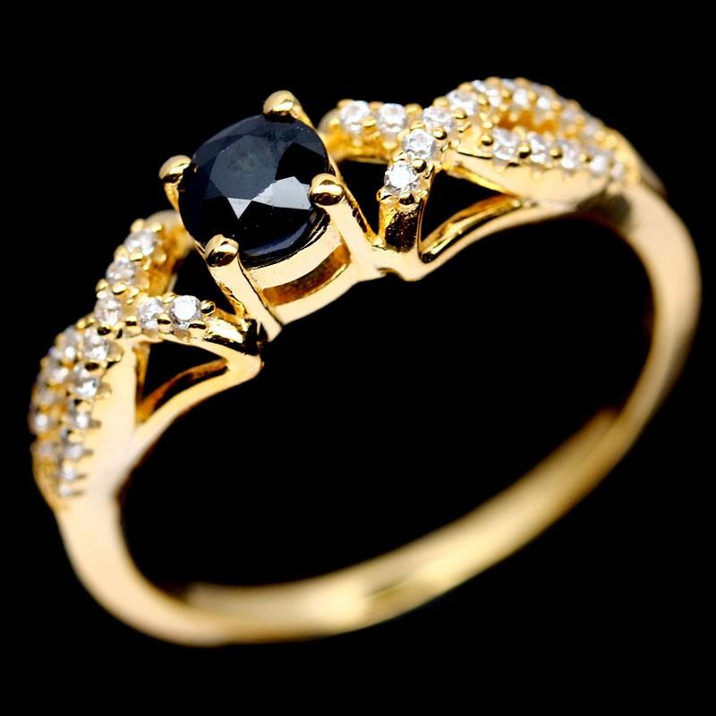 Genuine Midnight Blue Sapphire Ring.