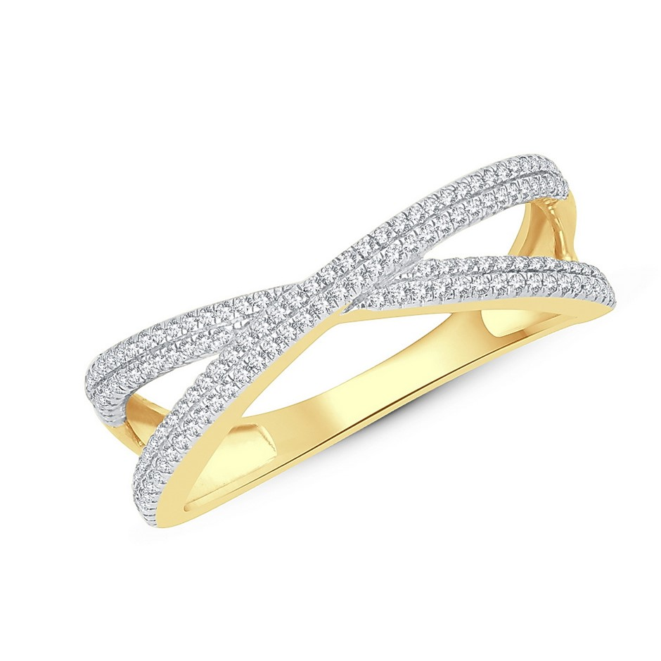 9ct Yellow Gold, 0.21ct Diamond Ring