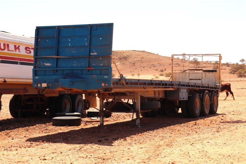 1996 Tipper Trailer converted to flat top trailer