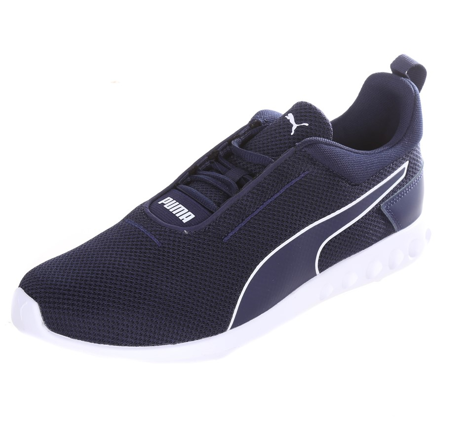 PUMA Men`s Carson 2 Concave Shoes, Size UK 9, Blue/White Sole. Buyers Note