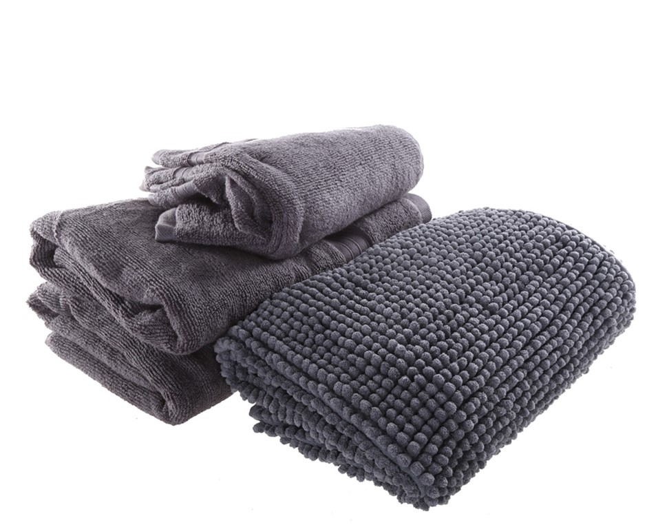 CROWNING TOUCH 7pc Gift Set Comprising: Bath Towel (71cm x 132cm), Hand Tow