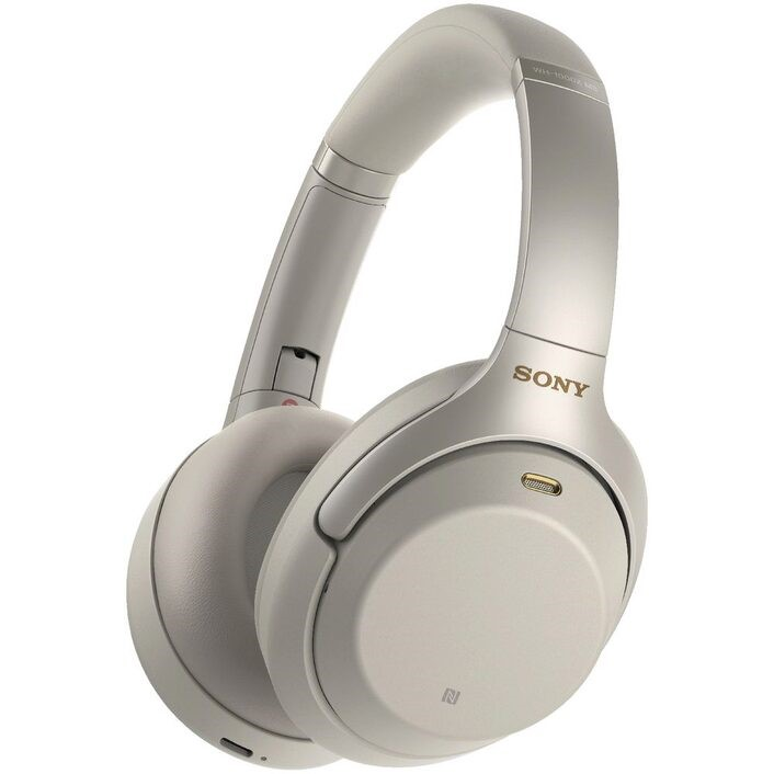SONY Wireless Noise Cancelling Headphones, Silver. Model WH-1000XM3. Comple