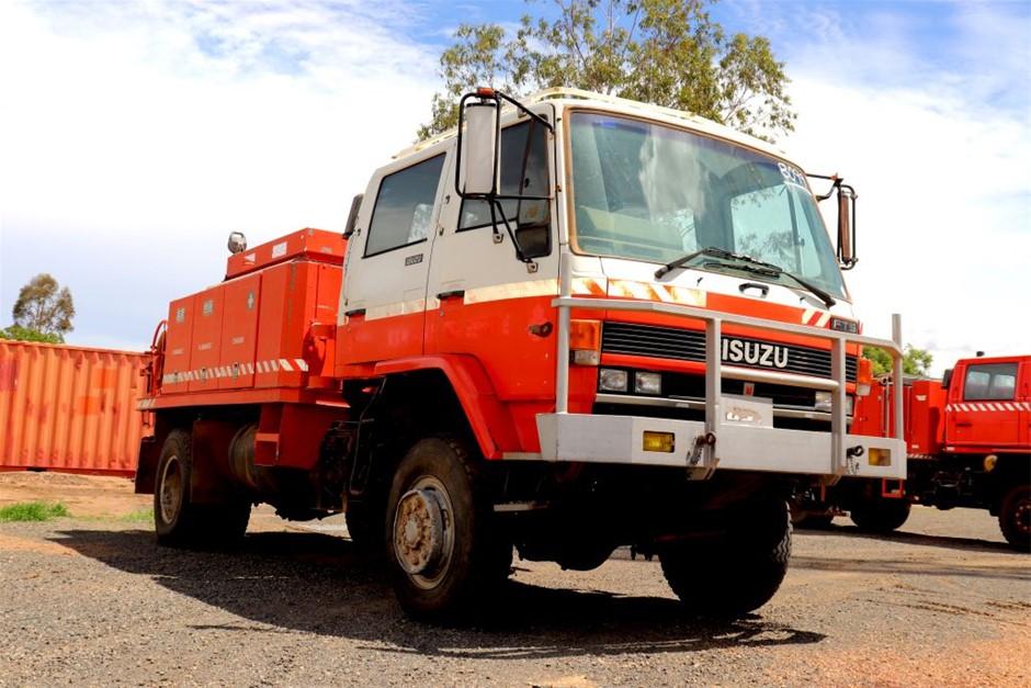 1988 Isuzu FTS 4X4 Crew Cab Fire Truck