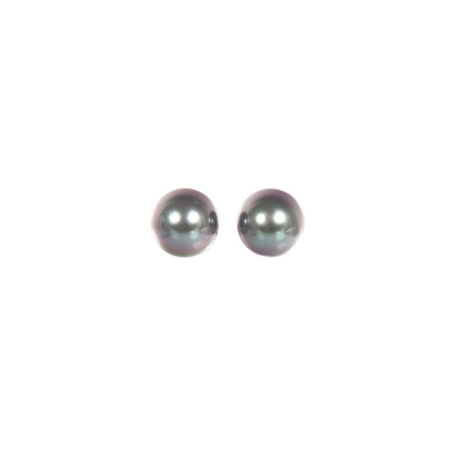 Natural Tahitian Pearl 8mm Earrings