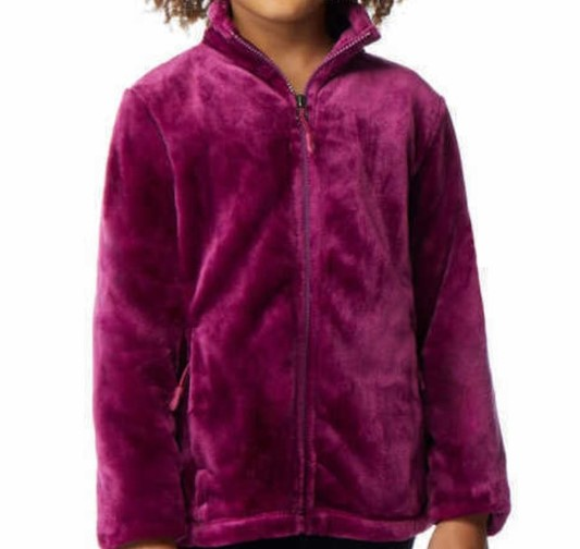 32 DEGREES HEAT Girl`s Faux Fur Jacket, Size 10/12 (M), Polyester, Galaxy.