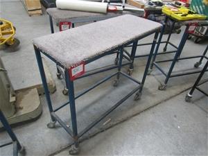 Quantity 4x Steel Fabricated Trolleys wi
