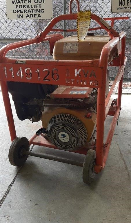 Generator - Petrol - 8kVA - CROMMELINS P80HC
