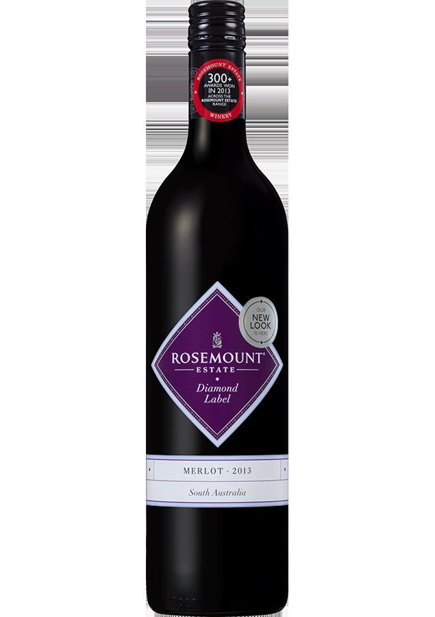 Rosemount Diamond Label Merlot 2018 (6x 750mL).TAS.