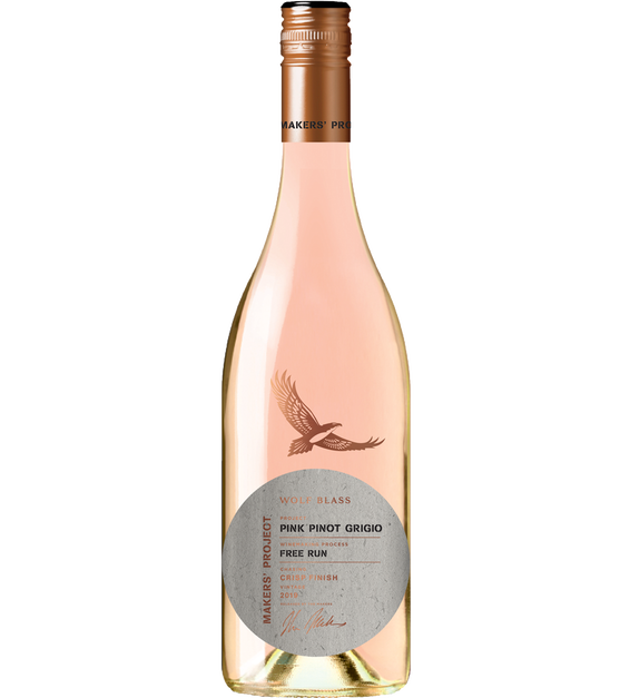 Wolf Blass Makers' Project Pink Pinot Grigio 2019 (6x 750mL).TAS.