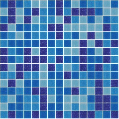 Mystique Tiffany Blue Blend 20x20mm Glass Pool Tiles, 10 Boxes, 20.4m²