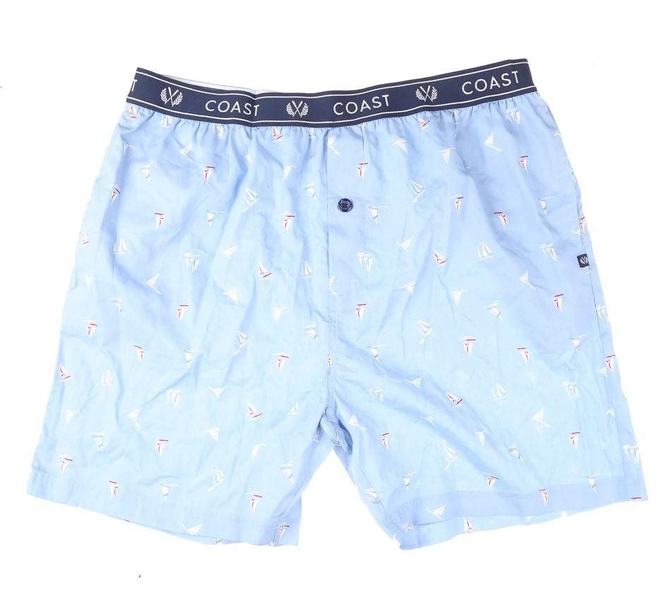 2 x COAST CLOTHING & CO Men`s Sleepwear Shorts, Size XXL, 100% Cotton, Ligh