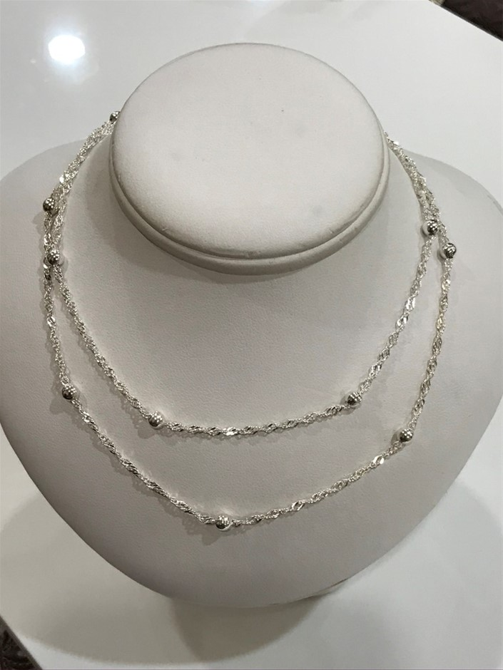 2 X Genuine Solid Sterling Con Panelli Fancy Chains ,2 x 18 inches (45cm)
