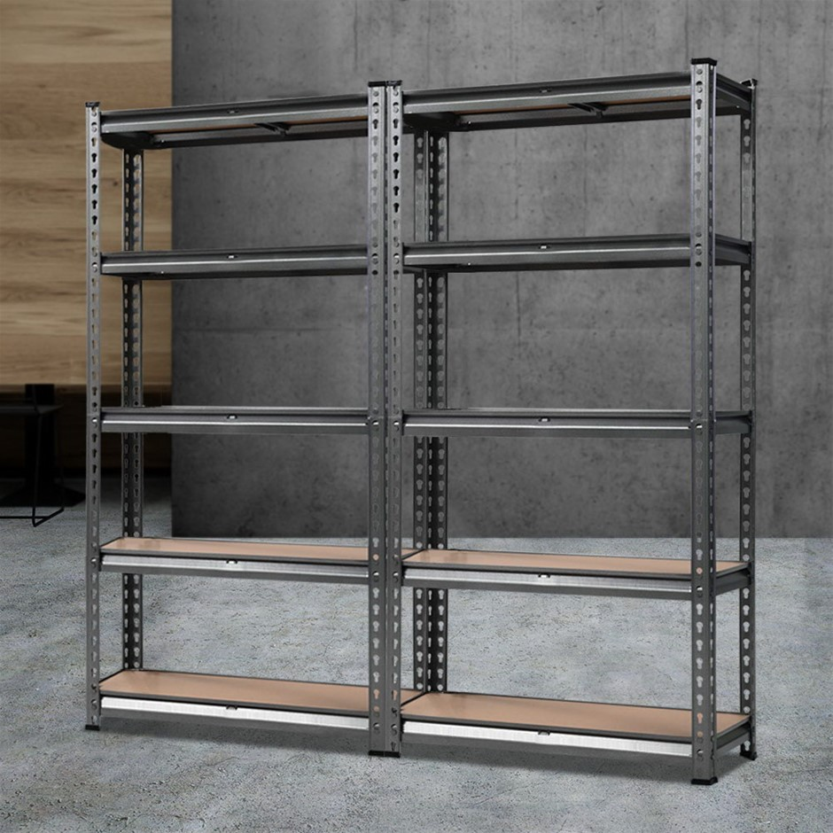 Giantz 2x0.7M Steel Warehouse Racking Shelving Storage Garage Shelves