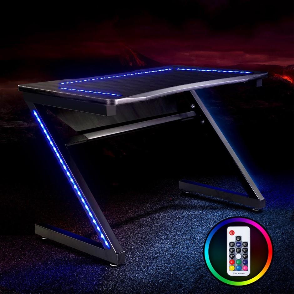 Artiss Gaming Desk Office Computer Desks LED Study Table Racer Chair Laptop