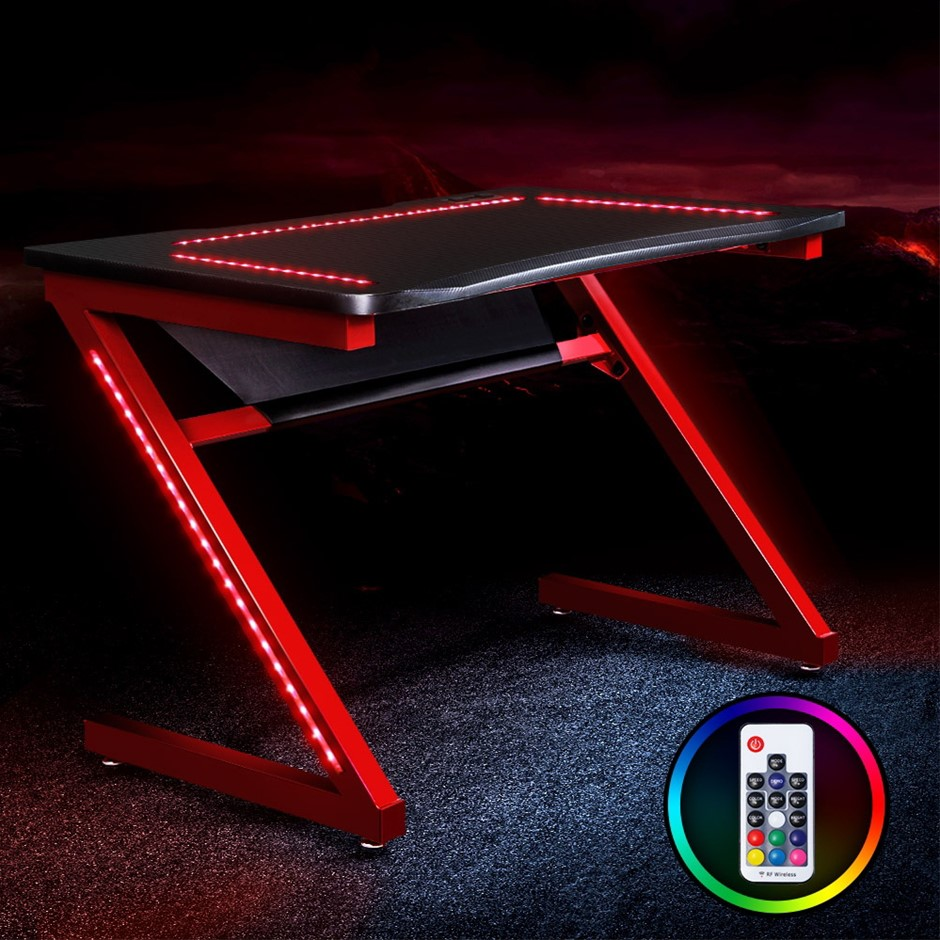Artiss Gaming Desk Office Computer Desks LED Study Table Racer Chair RGB