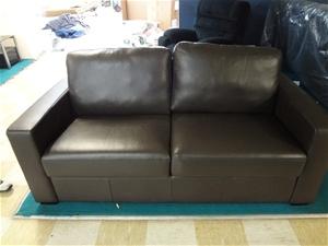 Berri Full Leather 2 Seater Sofa Bed Wi