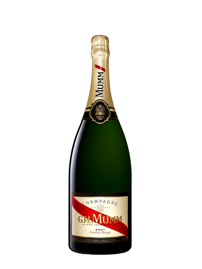 G.H Mumm Cordon Rouge Champagne Magnum NV (3 x 1500mL), France.