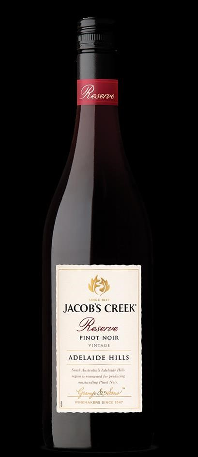 Jacobs Creek Reserve Pinot Noir 2018 (6 x 750mL), Adelaide Hills, SA