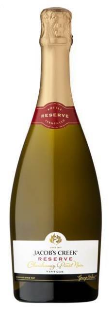 Jacobs Creek Reserve Sparkling Chardonnay Pinot 2018 (6 x 750mL), SE AUS