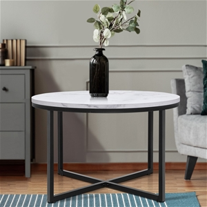 Artiss Coffee Table Marble Effect Tables
