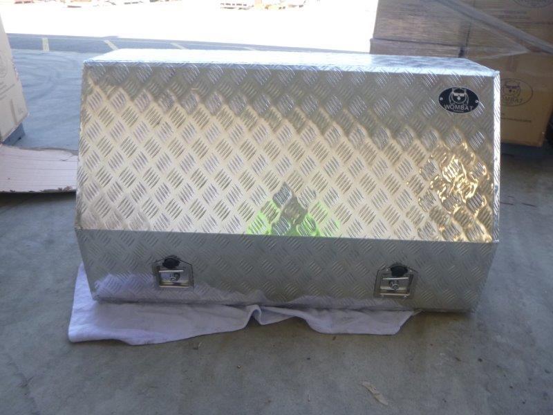 Wombat WAB 1220 Aluminium Checkered Plate Toolbox (Bid Price Per Toolbox)